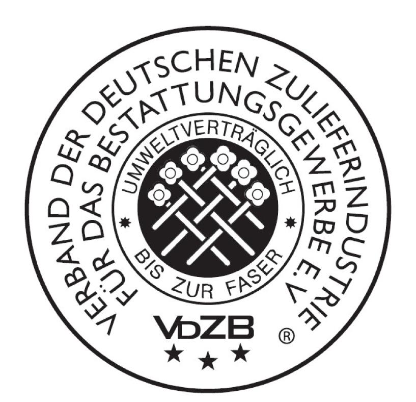 """Fachzeichen """"Anforderungen an Bestattungswäsche"""""""