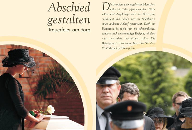 Broschüre: Trauerfeier am Sarg