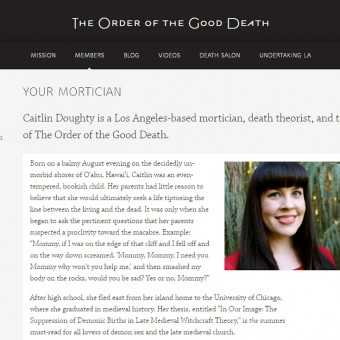 Webseite: The Order of the Good Death