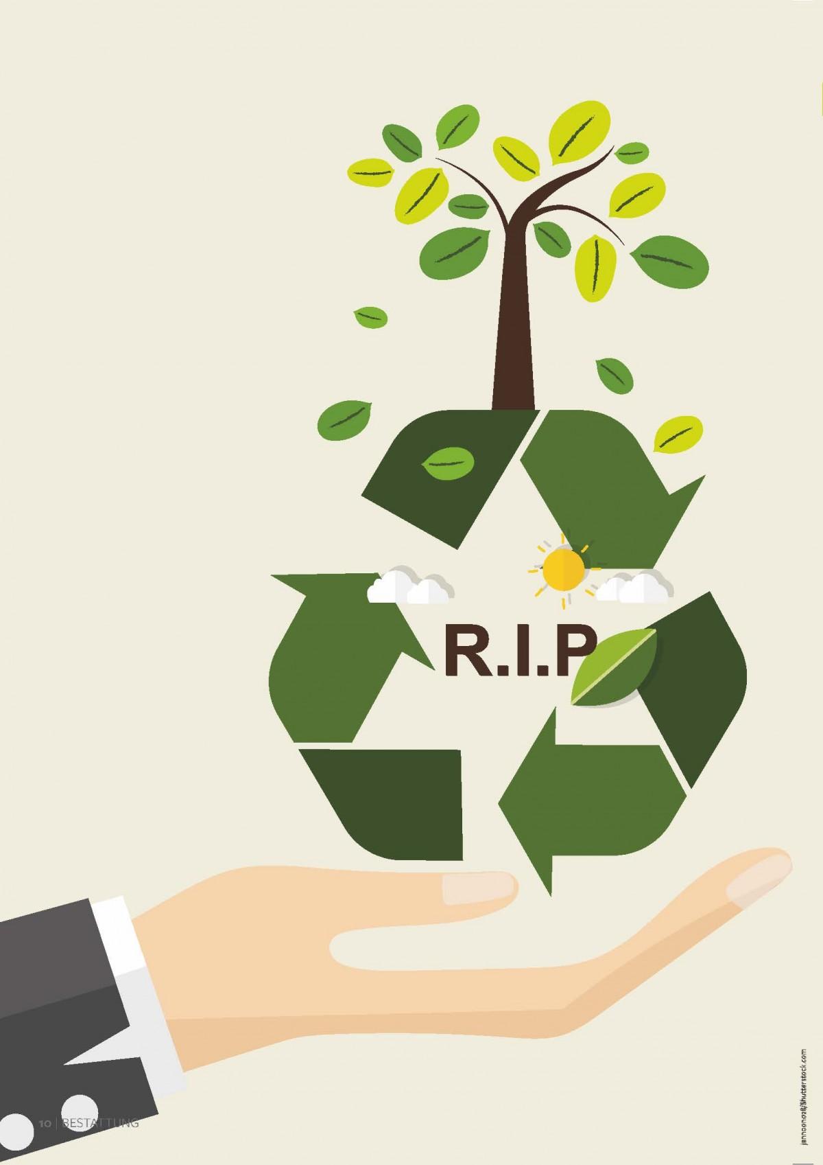 Das spurlose Verschwinden eines Verstorbenen ohne Einfluss auf die Umwelt ist unmöglich. Das liegt weder am Sarg noch an der Urne, sondern am menschlichen Körper.