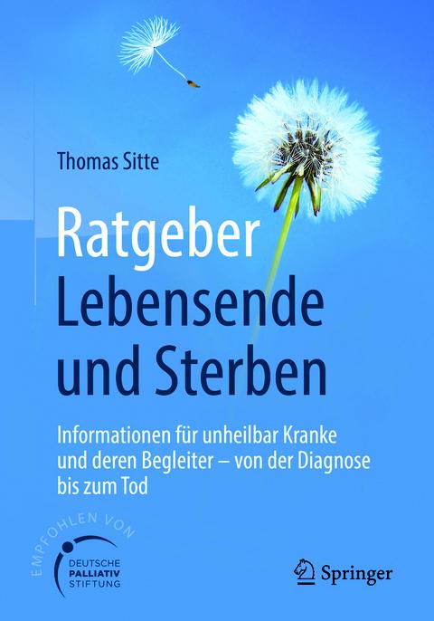 """""""Ratgeber Lebensende und Sterben"""" - Taschenbuch, 274 Seiten, Springer Verlag"""