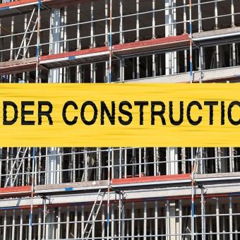 under construction aufschrift
